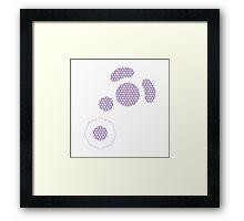 Gamecube Controller Button Symbol - Purple Hexagon Framed Print