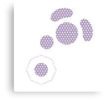 Gamecube Controller Button Symbol - Purple Hexagon Canvas Print