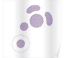 Gamecube Controller Button Symbol - Purple Hexagon Poster