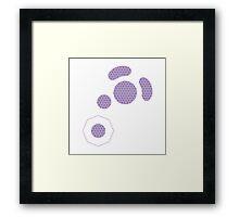 Gamecube Controller Button Symbol - Purple Hexagon Logo Framed Print