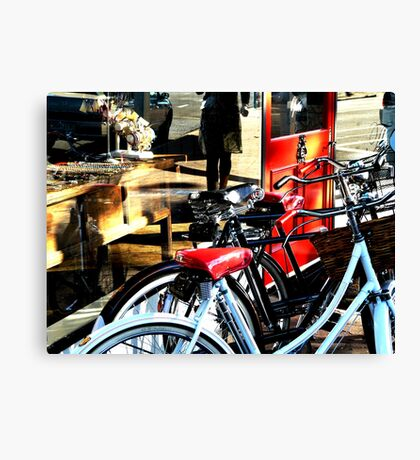 Bikes on Display - Partridge St Canvas Print