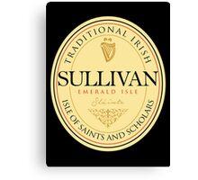 Irish Names Sullivan Canvas Print
