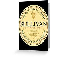 Irish Names Sullivan Greeting Card