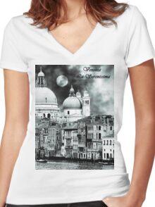 La Serenissima Women's Fitted V-Neck T-Shirt