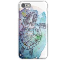 Watercolour Turtle iPhone Case/Skin