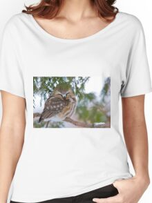 Sleeping Northern Saw Whet Owl - Ottawa, Ontario Women's Relaxed Fit T-Shirt