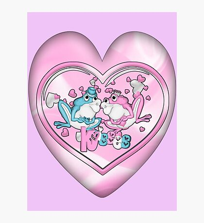 Little Frogs In Love Photographic Print