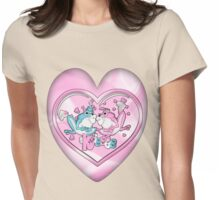 Little Frogs In Love Womens Fitted T-Shirt