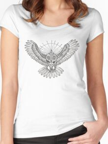 Mason Owl Women's Fitted Scoop T-Shirt
