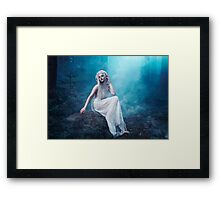 Nymphaea girl forest magical smoke Framed Print