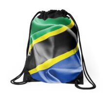 Tanzania Flag Drawstring Bag