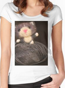 Fuzzy Cat Women's Fitted Scoop T-Shirt