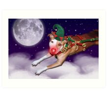 Santa's Employee of the Month II Art Print