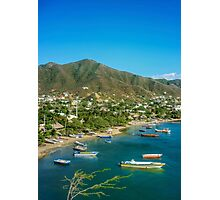 Colombia Taganga Bay Aerial View Photographic Print