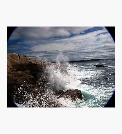 Peggy's Cove Splash Photographic Print
