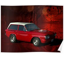 """1963 Corvair """"Stubby"""" Station Wagon Poster"""