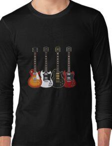 Four Electric Guitars Long Sleeve T-Shirt