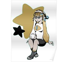 Splatoon/Pokemon - Jirachi Inkling Girl Poster