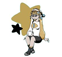 Splatoon/Pokemon - Jirachi Inkling Girl Photographic Print