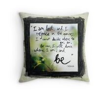 I am lost Throw Pillow
