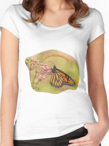 I Love Monarchs Women's Fitted Scoop T-Shirt