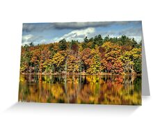 Autumn Reflections on Zephyr Lake Greeting Card