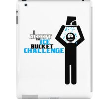 Ice bucket challenge geek funny nerd iPad Case/Skin