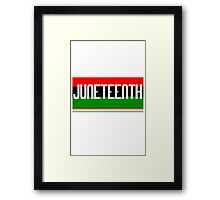 Juneteenth geek funny nerd Framed Print