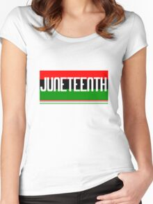 Juneteenth geek funny nerd Women's Fitted Scoop T-Shirt