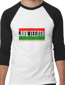Juneteenth geek funny nerd Men's Baseball ¾ T-Shirt