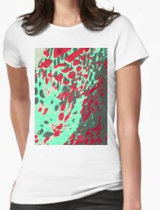 Leopard Pattern Background Womens Fitted T-Shirt