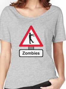 Caution: Zombies Women's Relaxed Fit T-Shirt