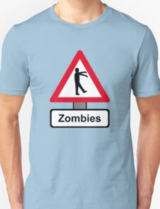 Caution: Zombies Unisex T-Shirt