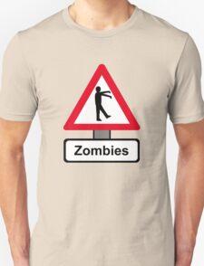 Caution: Zombies Unisex T-Shirt