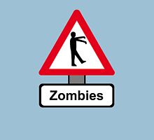 Caution: Zombies Womens Fitted T-Shirt