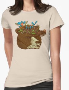 Mr Bears Nature Hat Womens Fitted T-Shirt