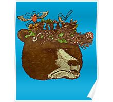 Mr Bears Nature Hat Poster