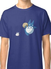 Small White and Blue Totoro with Swag Bag - No Outline Classic T-Shirt