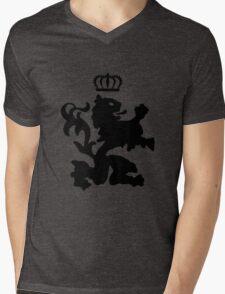 Lion crown geek funny nerd Mens V-Neck T-Shirt