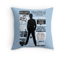 Doctor Who - 10th Doctor Quotes Throw Pillow