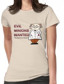 Evil Minions Wanted Womens Fitted T-Shirt