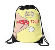 Lady pump spotty Drawstring Bag
