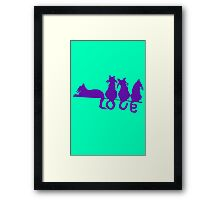 Love tails geek funny nerd Framed Print