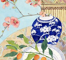 Japonicas and ceramic still life by Gabby Malpas