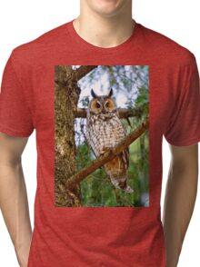 LEO - Long Eared Owl - Ottawa, Ontario Tri-blend T-Shirt