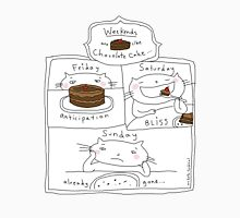 Weekends are like chocolate cake / Cat doodles Unisex T-Shirt