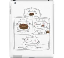 Weekends are like chocolate cake / Cat doodles iPad Case/Skin