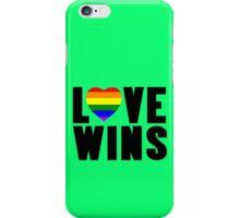 Love wins lovewins celebrate marriage equality geek funny nerd iPhone Case/Skin