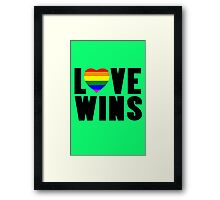Love wins lovewins celebrate marriage equality geek funny nerd Framed Print