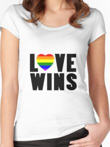 Love wins lovewins celebrate marriage equality geek funny nerd Women's Fitted Scoop T-Shirt
